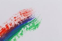 Cursos coloridos da escova da pintura acrílica Imagens de Stock Royalty Free