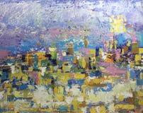 Cursos coloridos da escova da pintura de óleo Imagem de Stock