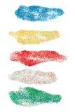 Cursos coloridos da escova dos brilhos ajustados Imagens de Stock Royalty Free