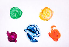 Cursos coloridos da escova isolados Imagem de Stock