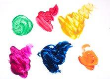 Cursos coloridos da escova isolados Fotografia de Stock