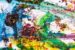 Cursos coloridos da pintura - cores vibrantes Fotografia de Stock