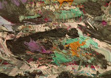 Cursos coloridos das pinturas de óleo Foto de Stock