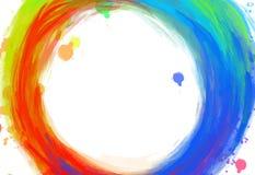Cursos coloridos desenhados à mão do círculo ilustração do vetor