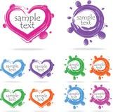 Cursos da escova (ícones), ilustração Imagens de Stock Royalty Free