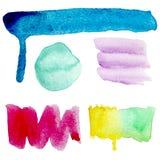 Cursos da escova ajustados Imagens de Stock Royalty Free