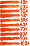 Cursos da escova da aquarela Imagem de Stock