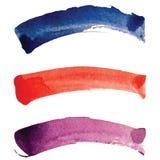 Cursos da escova da aquarela Imagens de Stock