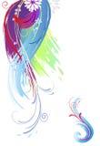 Cursos da escova da cor Fotos de Stock