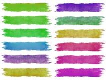 Cursos da escova de pintura Foto de Stock Royalty Free