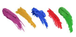 Cursos da escova de pintura Imagens de Stock