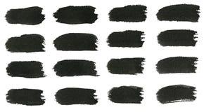 Cursos da escova de pintura da aquarela Imagens de Stock