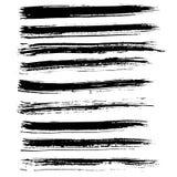 Cursos da escova do vetor da tinta ajustados Ilustração do vetor Textura tirada mão da aquarela do Grunge ilustração do vetor