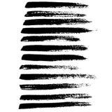 Cursos da escova do vetor da tinta ajustados Ilustração do vetor Textura tirada mão da aquarela do Grunge ilustração stock