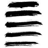 Cursos da escova do vetor da tinta ajustados Ilustração do vetor Textura tirada mão da aquarela do Grunge Foto de Stock Royalty Free