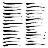 Cursos da escova do vetor da tinta ajustados Ilustração do vetor Textura tirada mão da aquarela do Grunge Foto de Stock