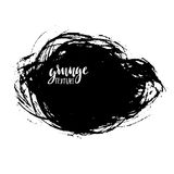 Cursos da escova do vetor da tinta Ilustração do vetor Textura tirada mão da aquarela do Grunge Espaço para o texto Fotos de Stock Royalty Free