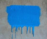 Cursos da escova e gotejamentos da pintura Fotografia de Stock Royalty Free