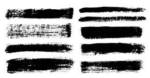 Cursos da escova Grupo do pincel do vetor Elementos do projeto de Grunge ilustração do vetor