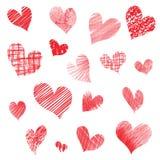 Cursos dados forma coração, dia de Valentim ilustração do vetor