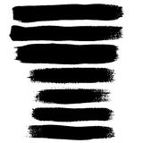Cursos de tinta preta da escova Fotos de Stock Royalty Free
