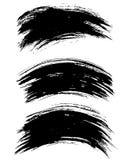 Cursos de tinta preta da escova do vetor isolados no fundo branco Ilustração do vetor Textura de Grunge Fotografia de Stock