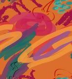 Cursos e cereja ásperos do marcador na laranja ilustração royalty free
