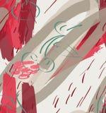 Cursos e cereja ásperos do marcador no creme claro textured ilustração stock
