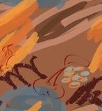 Cursos e cereja ásperos do marcador no marrom ilustração do vetor