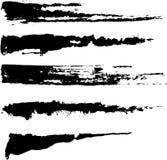 Cursos Inky ásperos da escova Ilustração do Vetor