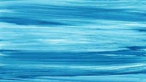 Cursos pintados à mão brancos azuis da escova da aquarela Linhas azuis abstratas fundo Ondas vívidas do aquarelle Teste padrão do ilustração stock