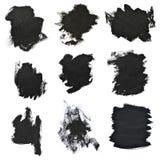 Cursos pretos ajustados da escova no Livro Branco Imagens de Stock Royalty Free