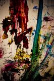 Cursos sujos da cor da pintura Fotografia de Stock