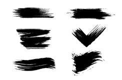 Cursos tirados mão da escova do Grunge Escuro, diferente imagens de stock royalty free