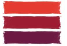 Cursos vermelhos da escova fotografia de stock royalty free