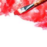 Cursos vermelhos no branco Fotografia de Stock