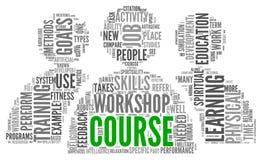 Cursus en opleiding verwant woordenconcept Stock Foto