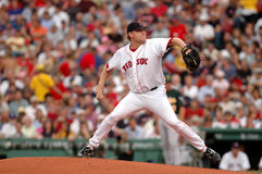 Curt Schilling Boston Red Sox. Former Boston Red Sox pitcher Curt Schilling delivering a pitch Royalty Free Stock Photos
