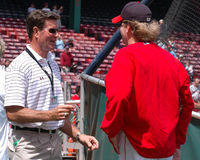 Curt Schilling and Jim Palmer Stock Image