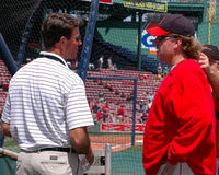 Curt Schilling and Jim Palmer Stock Images