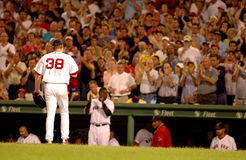 Curt Schilling walking off the mound Royalty Free Stock Image