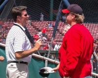 Curt Schilling y Jim Palmer Fotografía de archivo