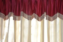 Curtain. Picture of a red color curtain Royalty Free Stock Photo