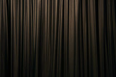 Curtain. A simple theatre curtain for background Stock Image