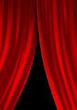 Curtain. Opening or closing theatre curtain illustration Royalty Free Stock Photography