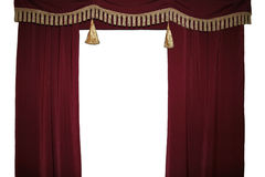 Curtain. Photo of a Red theater curtain Stock Images