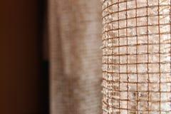 Curtain. Beautiful curtain light brown color Royalty Free Stock Photos