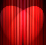 Curtain. Red theater curtain Royalty Free Stock Images