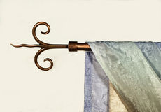 Curtain. Fragment of luxury colored curtain royalty free stock images