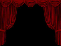 Curtain. The image of a curtain Royalty Free Stock Photos